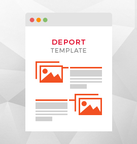 Deport Blog Template