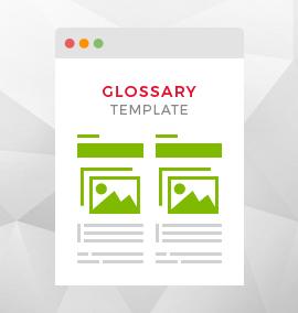 Glossary Blog Template