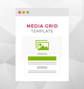 Media Grid Blog Template
