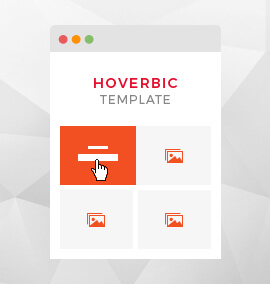 Hoverbic Grid Blog Template