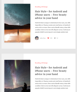 Cover Blog Template