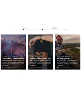 Overlay Horizontal Blog Template