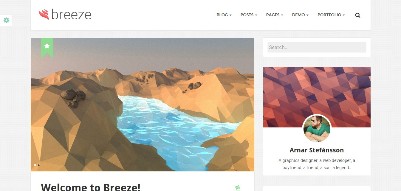 Breeze - Minimalist Responsive Personal Blog