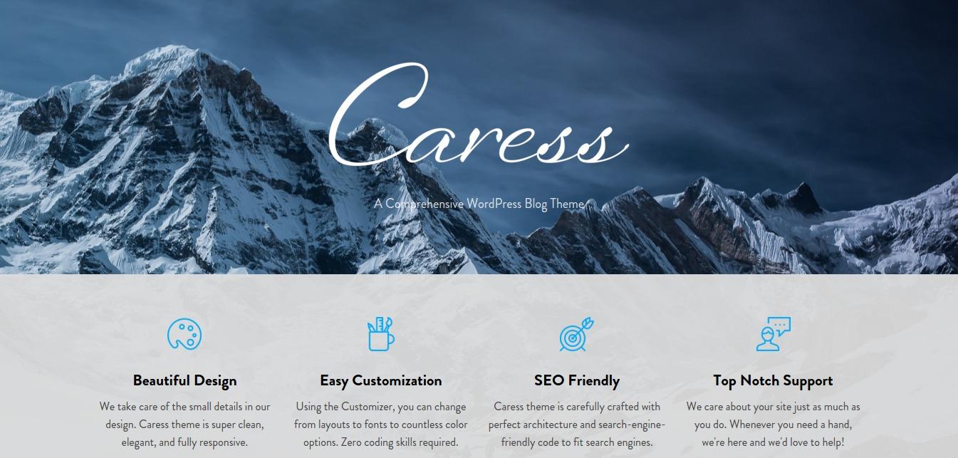 Caress - A Comprehensive WordPress Blog Theme