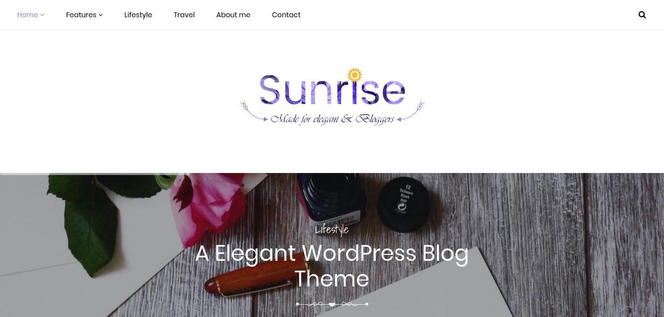 Sunrise – Elegant WordPress Blog Theme